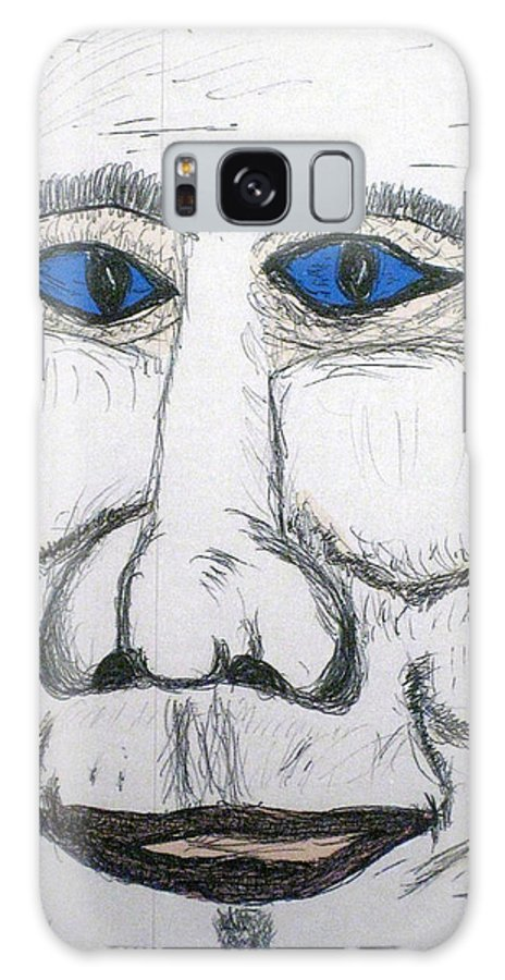 Canvas Paintings Galaxy S8 Case featuring the drawing Can You Hear Me Major Tom by Robert Margetts