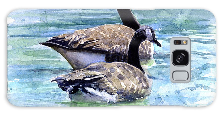 Canada Galaxy Case featuring the painting Canada Geese by John D Benson