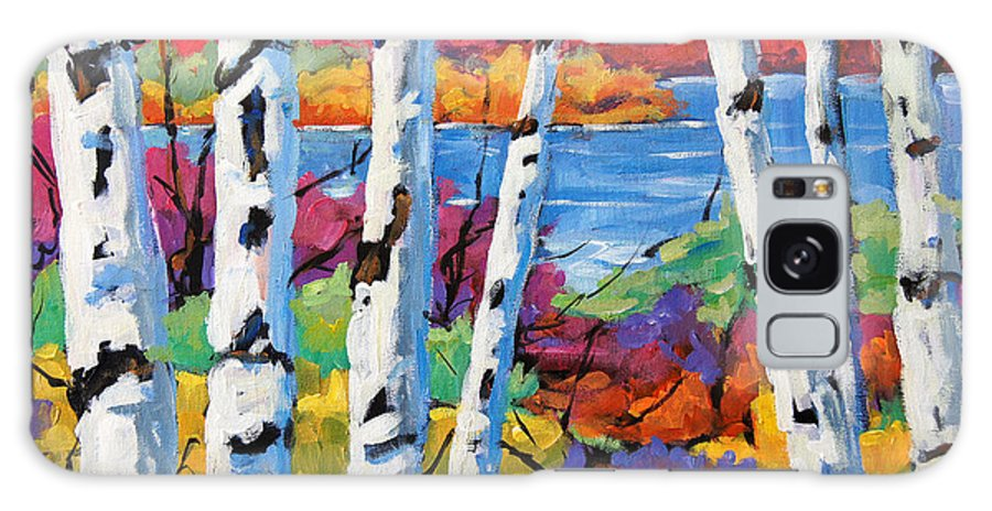 Canadian Landscape Created By Richard T Pranke Galaxy S8 Case featuring the painting Canadian Birches By Prankearts by Richard T Pranke