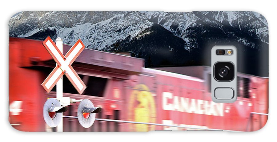 Train Galaxy S8 Case featuring the photograph Canadian Pacific Trail Slices Through The Rockies by Lisa Knechtel