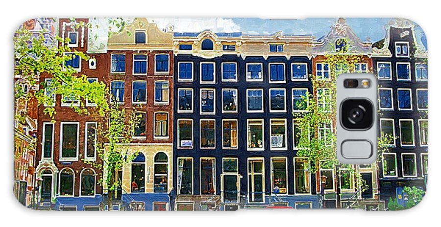 Amstersdam Galaxy S8 Case featuring the photograph Canal Houses by Tom Reynen