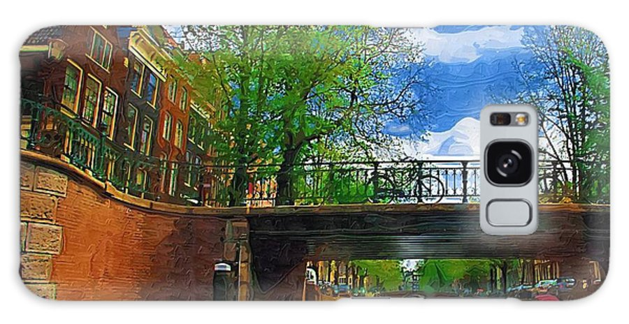 Amsterdam Galaxy S8 Case featuring the photograph Canals Of Amsterdam by Tom Reynen