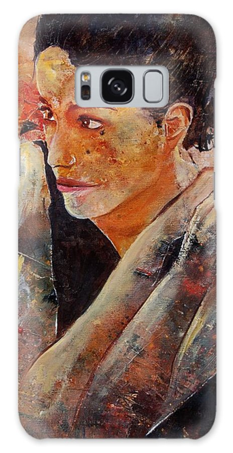 Figurative Galaxy Case featuring the painting Candid Eyes by Pol Ledent