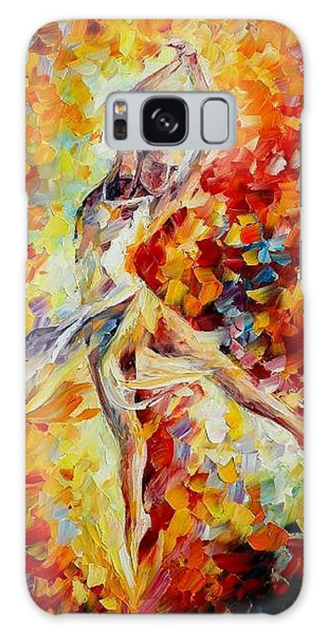 Danse Galaxy S8 Case featuring the painting Candle Fire by Leonid Afremov