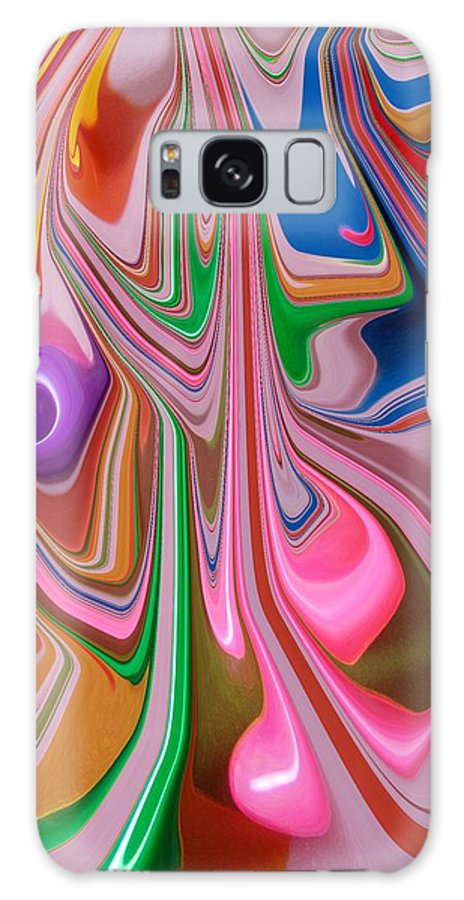 Abstract Galaxy S8 Case featuring the photograph Candy Melt by Florene Welebny