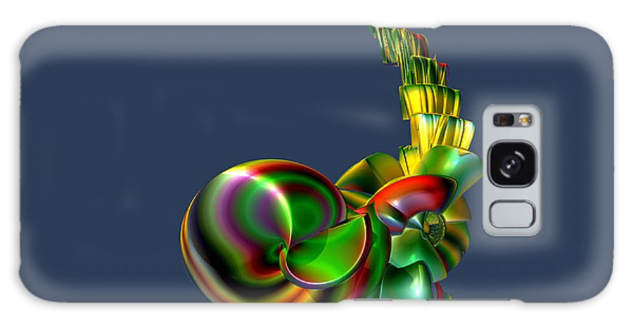Abstract Galaxy S8 Case featuring the digital art Candy Stack by Frederic Durville