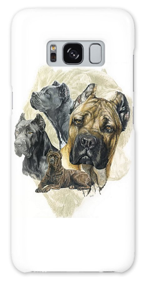 Working Galaxy S8 Case featuring the mixed media Cane Corso W/ghost by Barbara Keith
