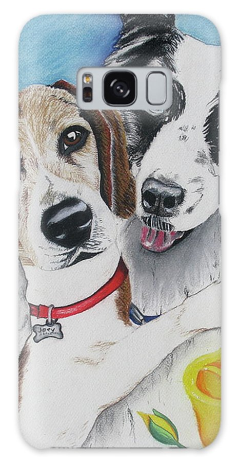 Dog Painting Galaxy S8 Case featuring the painting Canine Friends by Michelle Hayden-Marsan