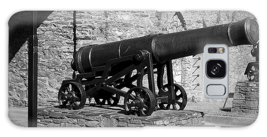 Irish Galaxy Case featuring the photograph Cannon At Macroom Castle Ireland by Teresa Mucha