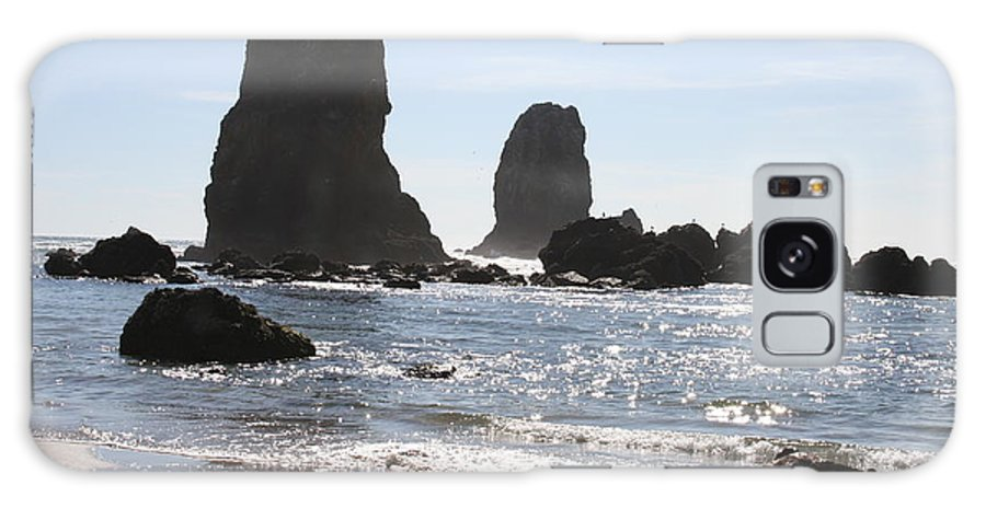 Sea Galaxy S8 Case featuring the photograph Cannon Beach II by Quin Sweetman