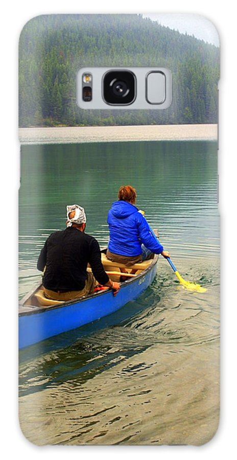 Glacier National Park Galaxy S8 Case featuring the photograph Canoeing Glacier Park by Marty Koch