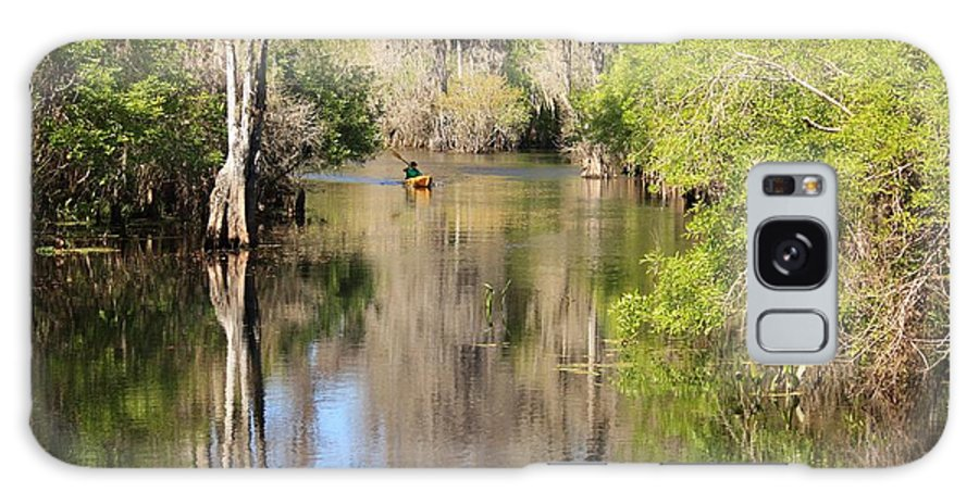 Hillsborough River Galaxy S8 Case featuring the photograph Canoing On Hillsborough River by Carol Groenen