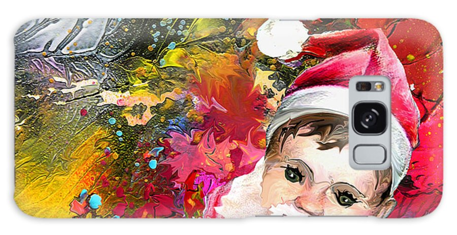 Santa Baby Painting Galaxy S8 Case featuring the painting Cant Stop Now by Miki De Goodaboom