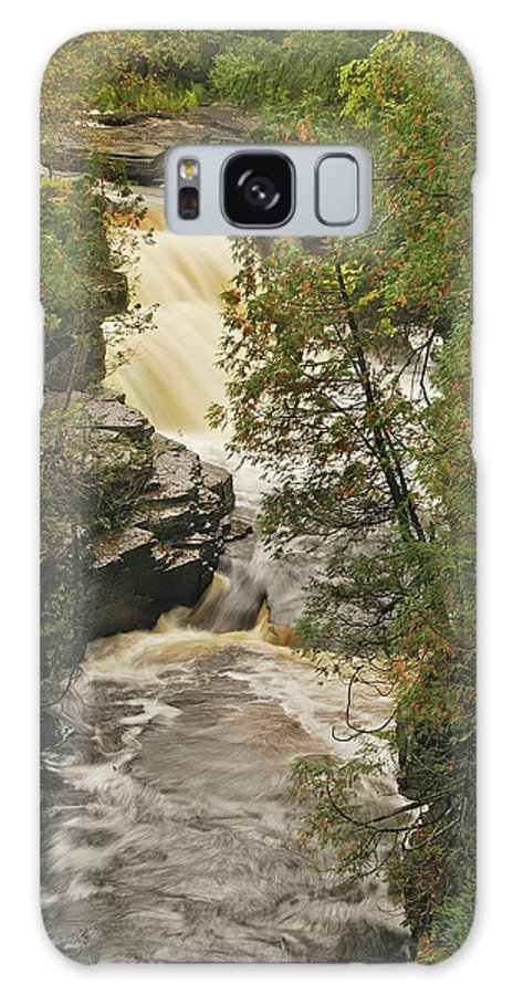 Michigan Galaxy S8 Case featuring the photograph Canyon Falls 2 by Michael Peychich