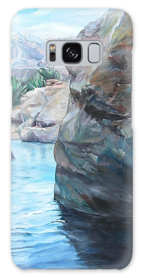 Landscape Galaxy Case featuring the painting Canyon by Muriel Dolemieux