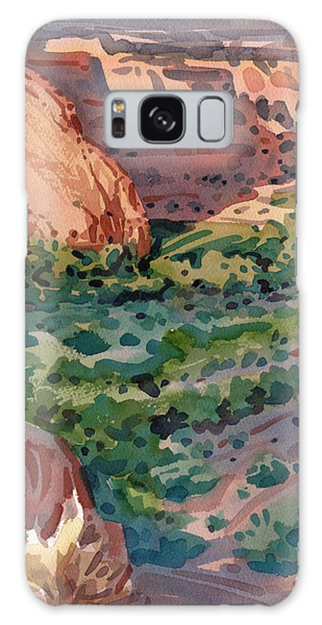 Canyon De Chelly Galaxy Case featuring the painting Canyon Shadows by Donald Maier