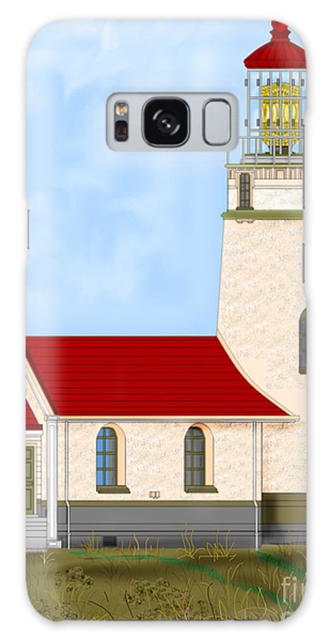 Lighthouse Galaxy S8 Case featuring the painting Cape Blanco Oregon by Anne Norskog