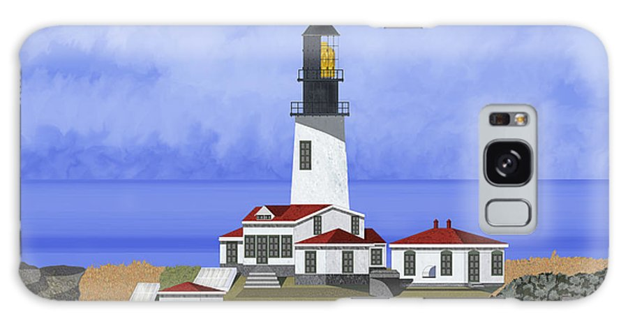 Seascape Galaxy Case featuring the painting Cape Flattery Lighthouse On Tatoosh Island by Anne Norskog
