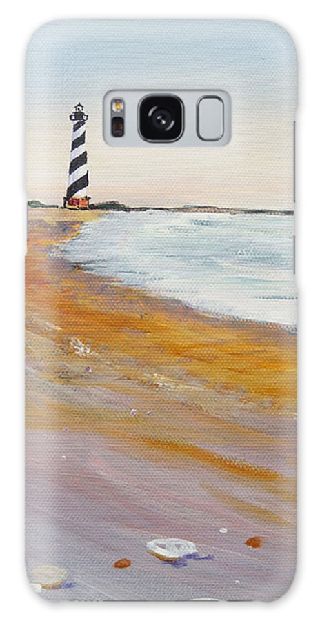 Cape Hatteras Galaxy S8 Case featuring the painting Cape Hatteras Lighthouse by Anne Marie Brown