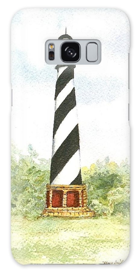 Lighthouses Galaxy S8 Case featuring the painting Cape Hatteras Lighthouse by Mary Dunham Walters