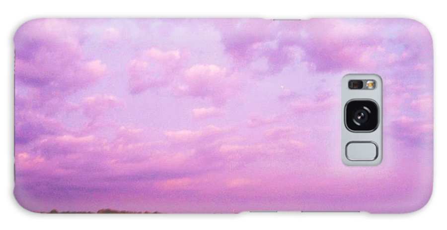 Cape May Point Nj Galaxy S8 Case featuring the painting Cape May Point State Park Lanscape And Clouds by Eric Schiabor