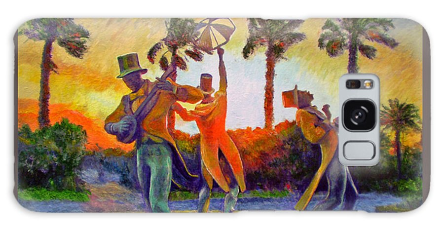 Sunset Galaxy Case featuring the painting Cape Minstrels by Michael Durst