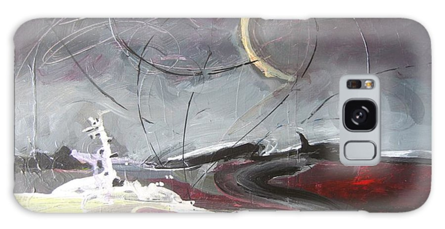 Abstract Paintings Galaxy Case featuring the painting Cape St. Mary by Seon-Jeong Kim