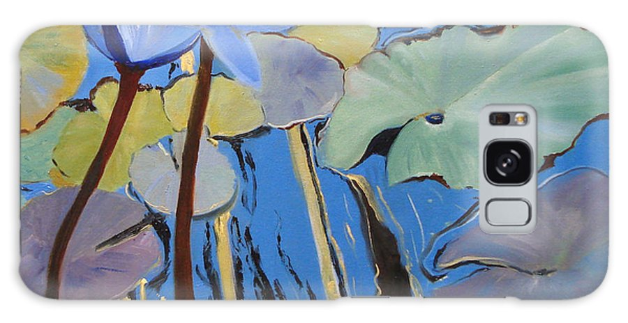 Lillies Galaxy Case featuring the painting Capistrano Lillies by Barbara Andolsek