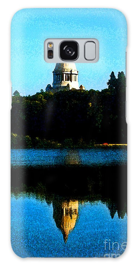 Lake Galaxy Case featuring the photograph Capital Lake by Larry Keahey