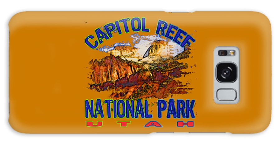Capitol Reef National Park Galaxy S8 Case featuring the digital art Capitol Reef National Park Utah by David G Paul