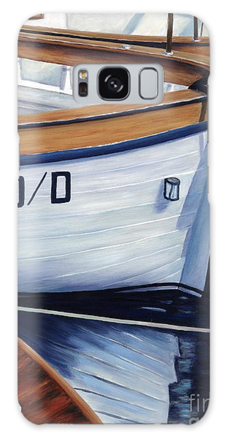 Nautical Galaxy S8 Case featuring the painting Capri Boats by Danielle Perry