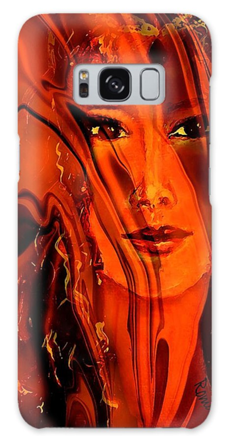 Portrait Galaxy S8 Case featuring the mixed media Captivating by Robin Monroe