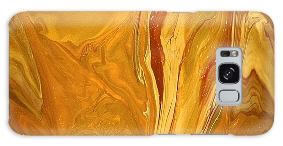 Abstract Galaxy S8 Case featuring the painting Caramel Delight by Patrick Mock