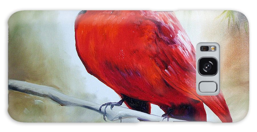 Bird Galaxy Case featuring the painting Cardinal 18 by Marcia Baldwin