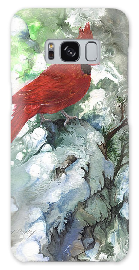 Bird Galaxy S8 Case featuring the painting Cardinal by Sherry Shipley