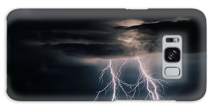 Arizona Galaxy S8 Case featuring the photograph Carefree Lightning by Cathy Franklin