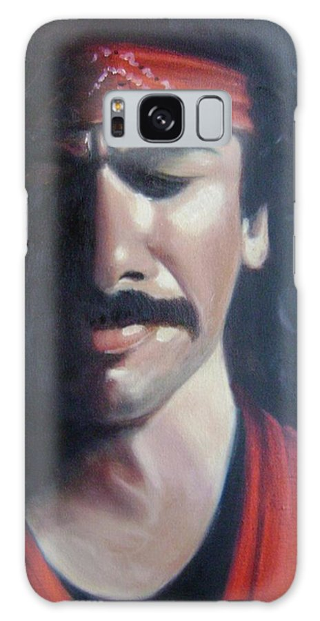 Santana Galaxy S8 Case featuring the painting Carlos Santana by Toni Berry