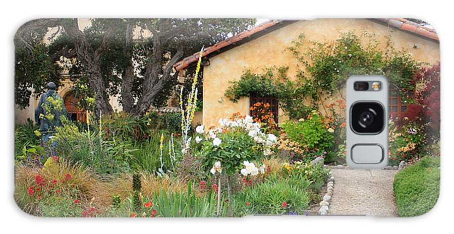 Carmel Galaxy S8 Case featuring the photograph Carmel Mission With Path by Carol Groenen