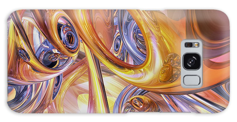3d Galaxy S8 Case featuring the digital art Carnival Abstract by Alexander Butler