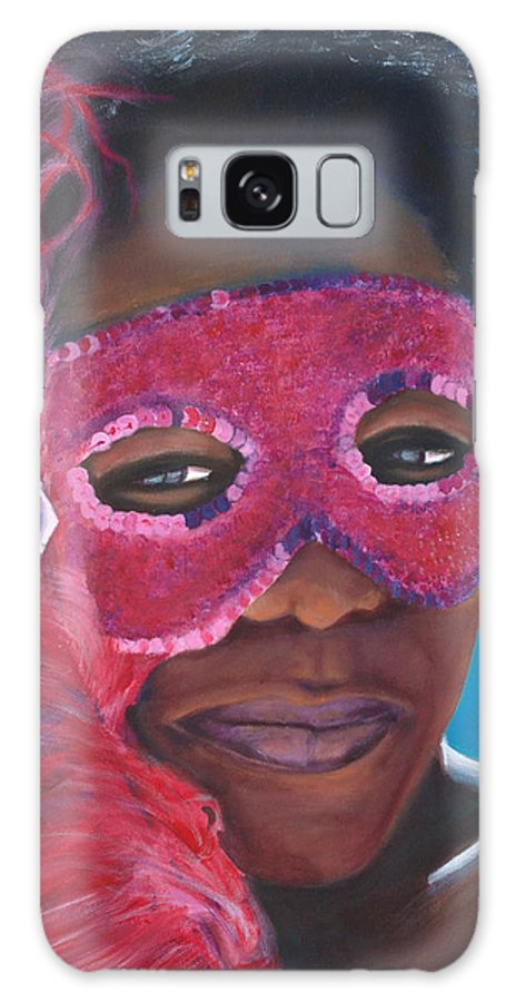 Carnival Galaxy S8 Case featuring the painting Carnival Mask 1 by Fiona Jack