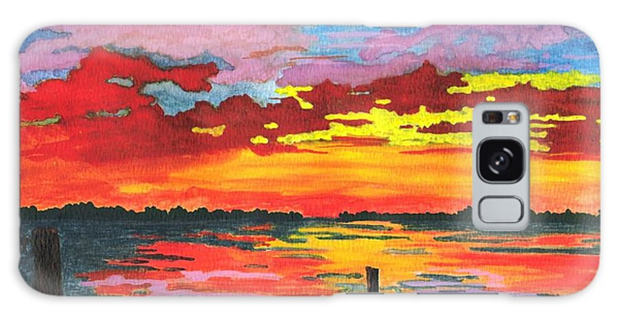 Original Painting Galaxy Case featuring the painting Carolina Sunset by Patricia Griffin Brett