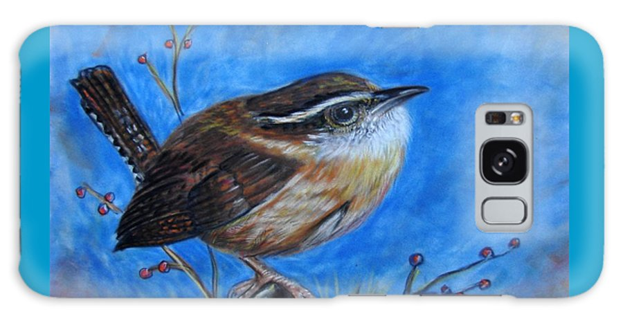 Birds Galaxy S8 Case featuring the painting Carolina Wren by Patricia L Davidson