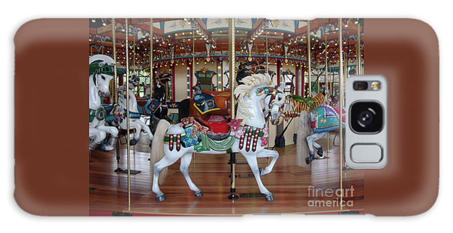 Carousel Galaxy S8 Case featuring the photograph Carousel by Ann Horn