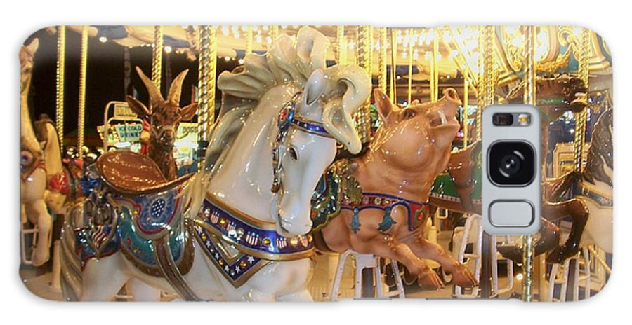 Carosel Horse Galaxy S8 Case featuring the photograph Carousel Horse 2 by Anita Burgermeister