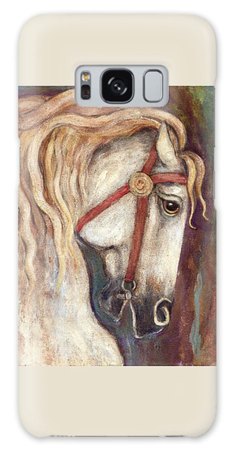 Horse Painting Galaxy S8 Case featuring the painting Carousel Horse Painting by Frances Gillotti