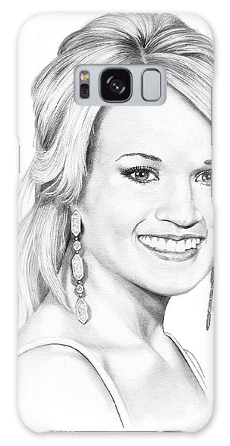 Portrait Galaxy S8 Case featuring the drawing Carrie Underwood by Murphy Elliott