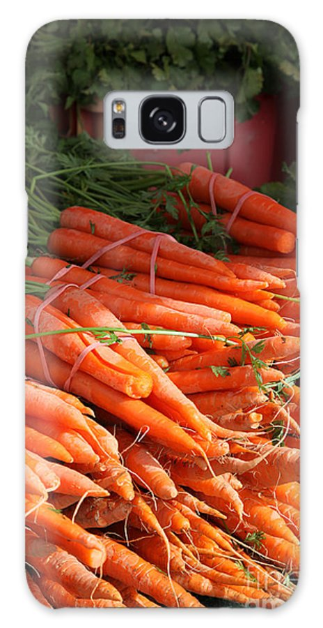 Stilllife Galaxy Case featuring the photograph Carrot Bounty by Enzie Shahmiri
