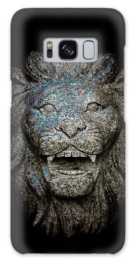 Loriental Galaxy S8 Case featuring the photograph Carved Stone Lion's Head by Loriental Photography