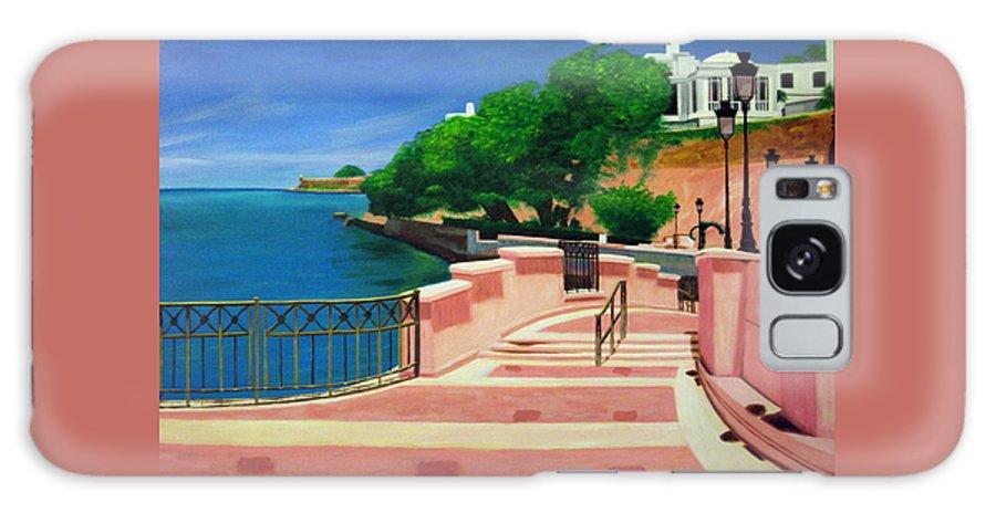 Landscape Galaxy Case featuring the painting Casa Blanca - Puerto Rico by Tito Santiago