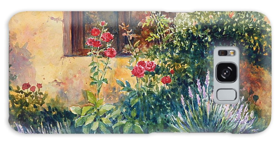 Roses Galaxy Case featuring the painting Casale Grande Rose Garden by Ann Cockerill